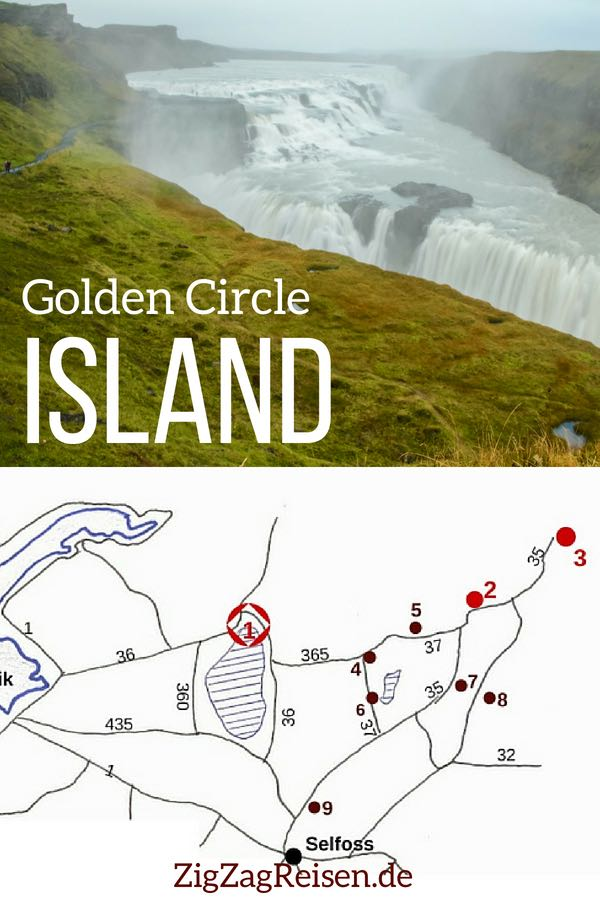 Golden Circle Island reisen Pin