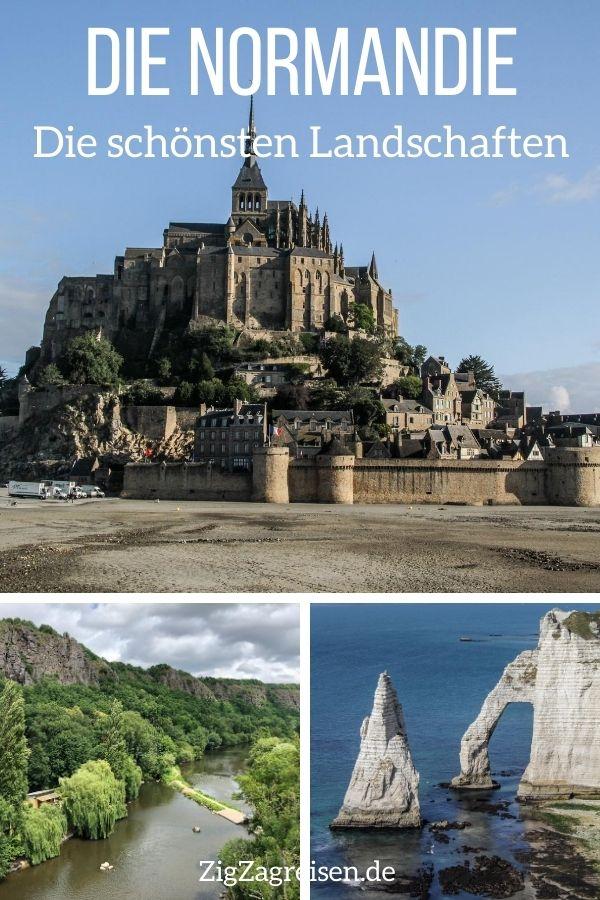 landschaften Bilder Normandie reisen Pin